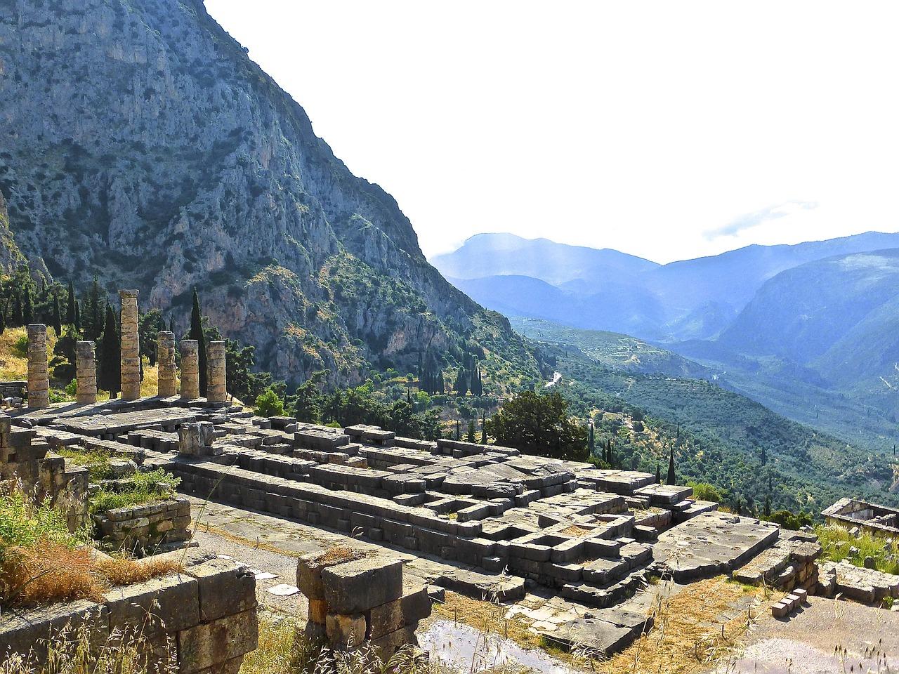 Tempelruine von Delphi